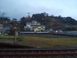 瓦の街の駅